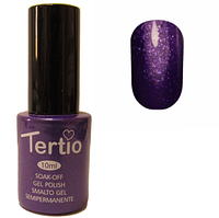 Гель-лак Tertio №176 Фиолетовый с блестками 10 мл