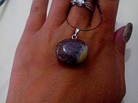 Кулон с натуральным камнем яшма (подвес)