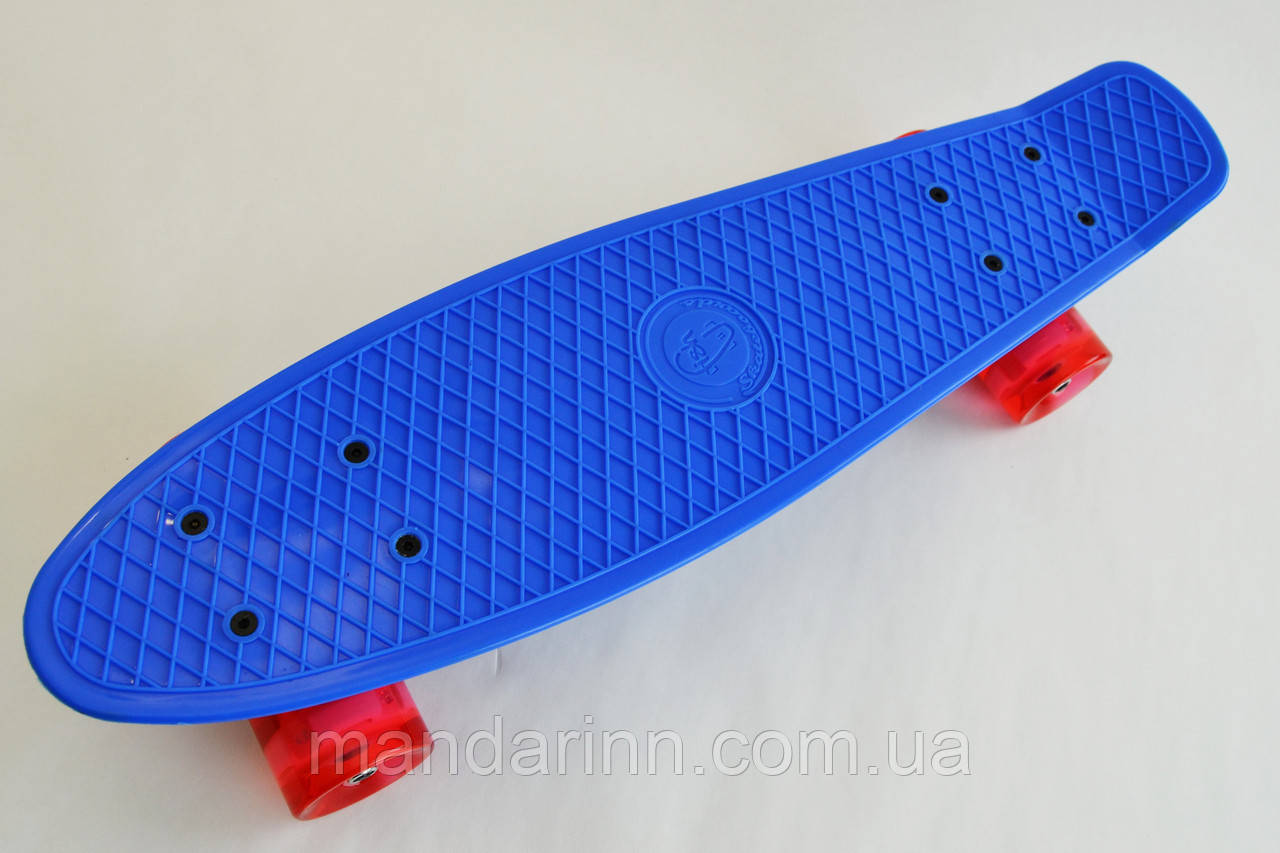 Fish Скейтборд Original 22 Penny Синий LED