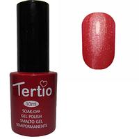 Гель-лак Tertio №186 Алый с блестками 10 мл