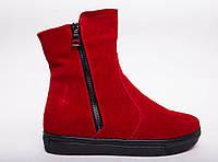 №415-3 красный замша (черная люси), фото 1