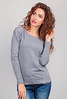 Свитер женский тонкий, джемпер трикотажный AG-0002775 Светло-серый