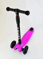 Самокат Scooter Smart Розовый Все колеса светятся