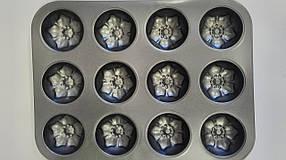 Форма тефлон цветы (12шт)