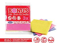 Универсальные матерчатые салфетки для уборки во всем доме Bonus 3 шт