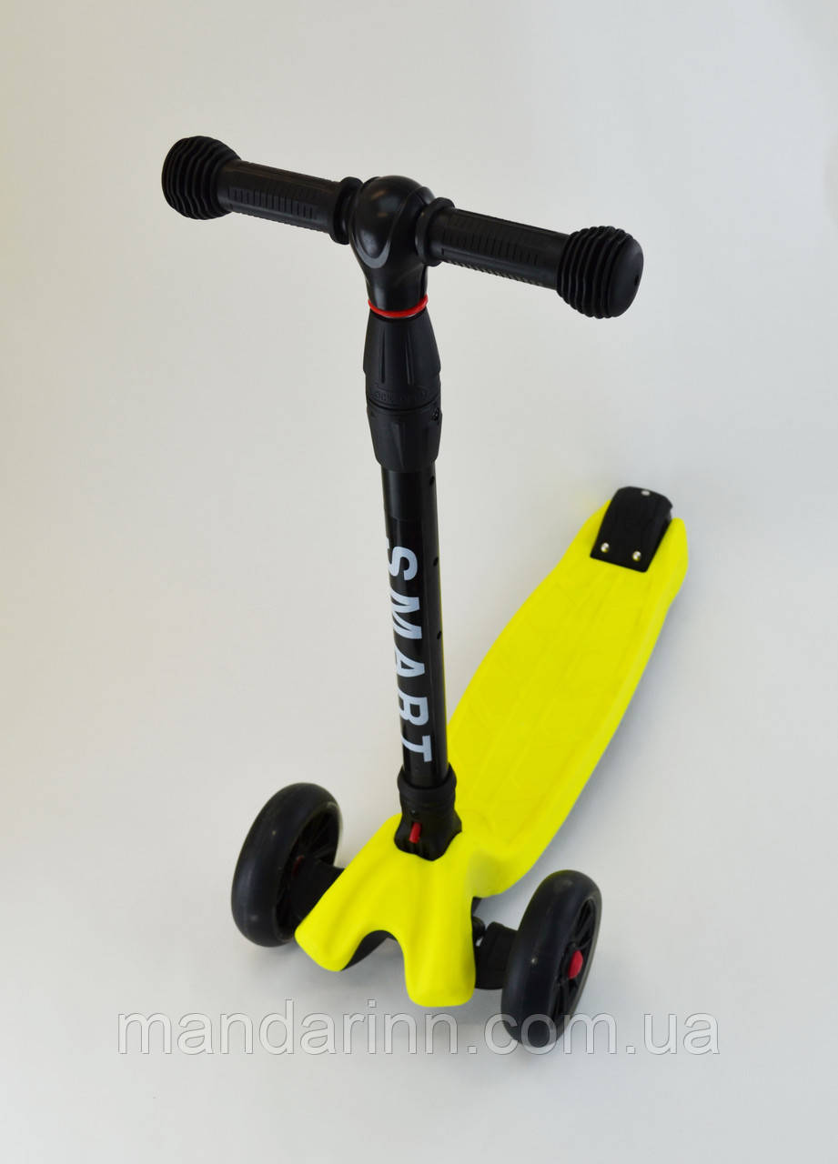 Самокат Scooter Smart Желтый Все колеса светятся