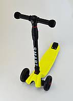 Самокат Scooter Smart Желтый Все колеса светятся, фото 1