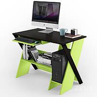 Компьютерный стол ZEUS Zhuk Венге/Зеленая вода