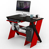 Компьютерный стол ZEUS Zhuk Венге/Красный
