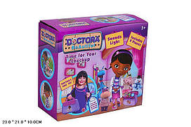 Игровой набор для девочек  Набор Доктора (2824) Доктор Плюшева-9дет., стетоскоп, шприц, с аксесс, муз, свет,