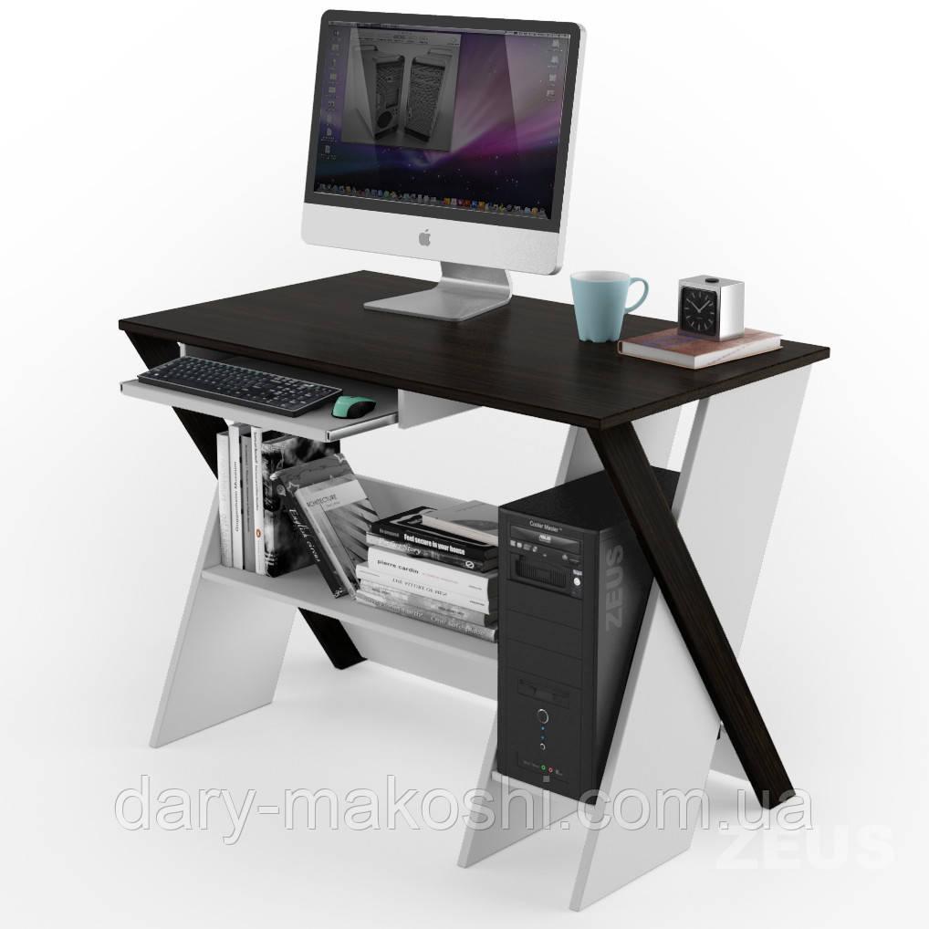 Компьютерный стол ZEUS Zhuk Венге/Белый