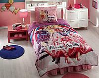 Постельное белье подростковое TAC Disney 160х220 -  Barbie Princess Pop Star