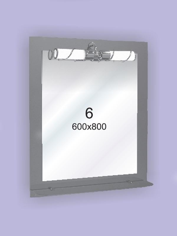 Зеркало для ванной комнаты ( настенное зеркало) 600х800мм Ф6