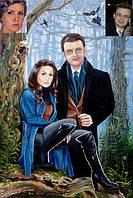 Картина маслом, семейный портрет