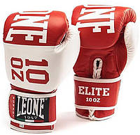 Боксерские перчатки Leone Elite Red 10 ун