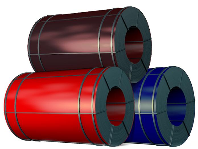 Рулон стали оцинкованной в различных цветах по каталогу RAL