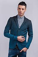 Пиджак мужской под джинсы AG-0002845 Лазурно-черный