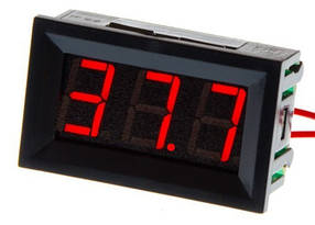 Цифровой вольтметр DC постоянного тока 5-120V панельный красный