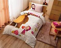 Постельное белье подростковое TAC Disney 160х220 -  Masha and the bear super berry