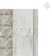 Вентиляционная решетка KRATKI Retro белая 22Х22 с одной дверкой, фото 1