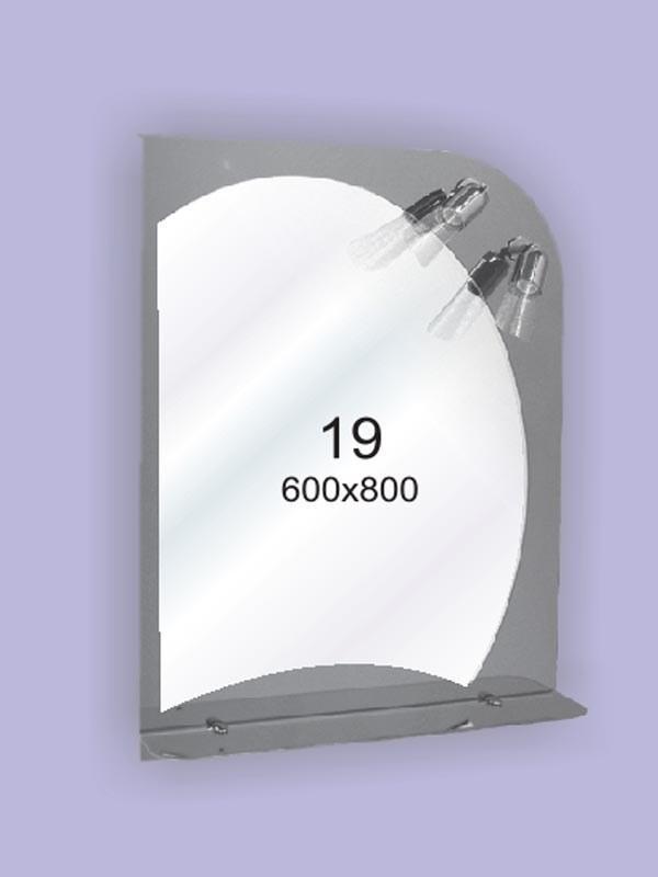Зеркало для ванной комнаты ( настенное зеркало) 600х800мм Ф19