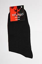"""Шкарпетки бавовняні """"Milano"""" чорні"""