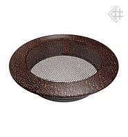 Вентиляционная решетка KRATKI круглая Ø150 медная (крашенная)