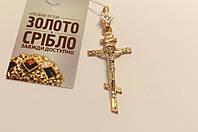 Золотой православный крест, вес 4.59 грамм.