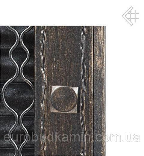 Вентиляционная решетка KRATKI Retro графитовая 22 с двумя дверками открывающаяся