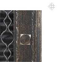 Вентиляционная решетка KRATKI Retro графитовая 22 с двумя дверками открывающаяся, фото 1