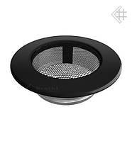 Вентиляционная решетка KRATKI круглая Ø100 черная