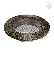 Вентиляционная решетка KRATKI круглая Ø125 черно-золотая