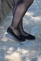 Туфли замшевые на низком ходу