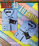 Рубашка школьная для мальчиков, хлопок, Турция, размеры 6-13 лет