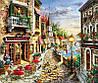 """Набір для вишивання стразами Алмазна мозаїка """"Гарна вуличка біля моря"""""""