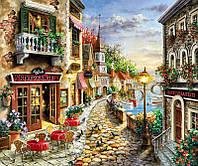 """Набір для вишивання стразами Алмазна мозаїка """"Гарна вуличка біля моря"""", фото 1"""