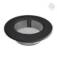 Вентиляционная решетка KRATKI круглая Ø100 графитовая