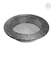 Вентиляционная решетка KRATKI круглая Ø150 черно-серебренная