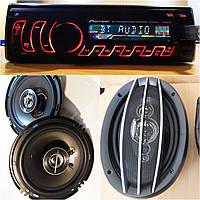 Крутой Бюджетный набор Авто-Звука с Магнитолой Pioneer 8506DBT + овалы + круглые 16 см!