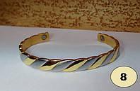 Медный браслет из чистой высококачественной меди с содержанием её 99,9%! с 2-мя магнитами, МОДЕЛЬ 8