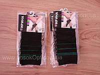 Носки капроновые женские Ирина черные (зеленая полоска) опт