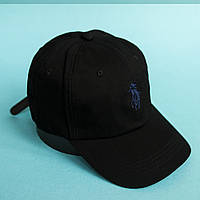 Черная кепка  POLO