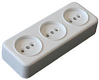 Колодка электрическая на 3 гнезда, электро-колодки, электро-товары купить оптом