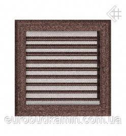 Вентиляционная решетка KRATKI 22Х22 СМ OSKAR МЕДНАЯ (крашенная) С ЖАЛЮЗИ