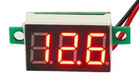 Цифровой вольтметр DC постоянного тока 4,5-30V панельный красный, фото 2