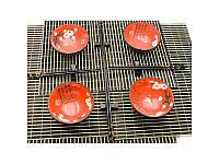 """Сервиз для лапши """"Красный с цветами сакуры"""" (4 персоны)(34,5х34,5х7 см) ( 23738)"""