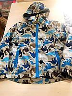 Стильная бежевая куртка ветровка Динозавр унисекс