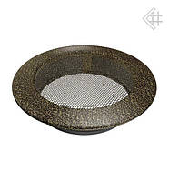 Вентиляционная решетка KRATKI круглая Ø150 черно-золотая