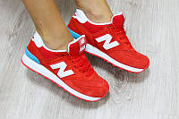 Женские кроссовки New Balance 574 красные
