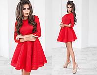 Красивое короткое женское платье с длинным рукавом +цвета
